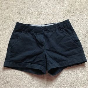 J. Crew Navy Blue Chino Sz 0 Shorts